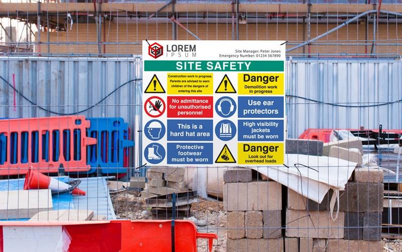construction job site sign