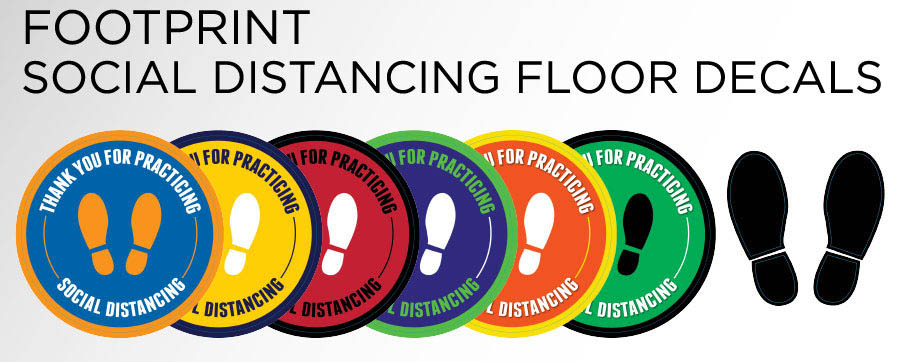 physical distance floor stickers