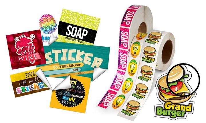 Rolls of stickers
