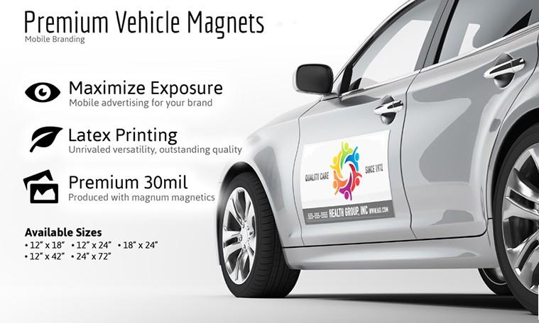 custom car magnetic signs