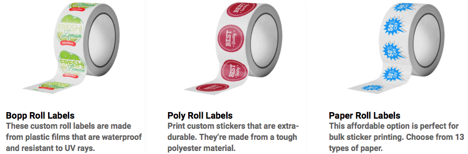 cheap custom labels on a roll