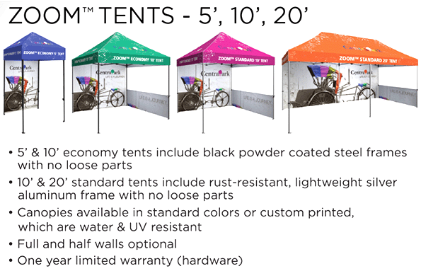 event graphics & tents